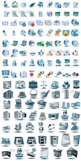 Design1s Blue Network Icons Blue Network Icons Vector PNG images