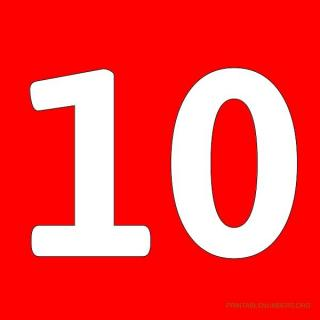 Number 10 .ico PNG images