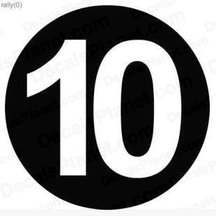 Icon Number 10 Size PNG images