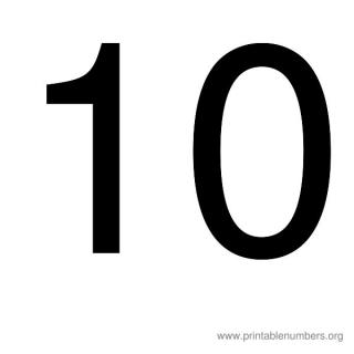 Simple Number 10 Png PNG images