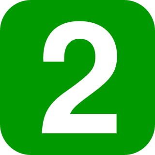 Geen Number 2 Two Icon PNG images