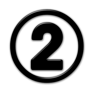 Number 2 Black Icon PNG images