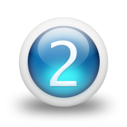Number 2 Blue Icon PNG images