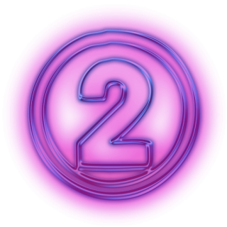 Number 2 Purple Icon PNG images