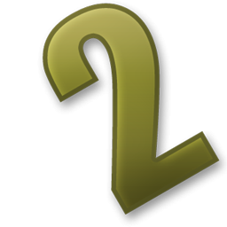 Pictures Number 2 Two Icon PNG images