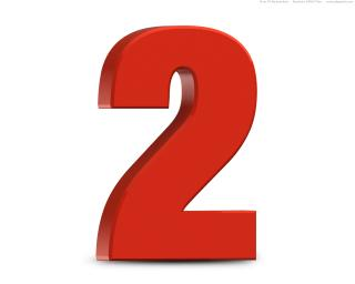 Number 2 Two Png Simple PNG images