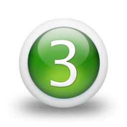 Photos Number 3 Icon PNG images