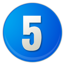 Number 5 Icon Transparent Number 5 Png Images Vector Freeiconspng