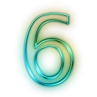 Hd Number 6 Icon PNG images