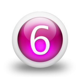 Number 6 .ico PNG images