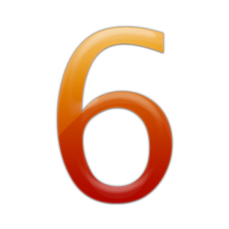 Number 6 Free Vector PNG images