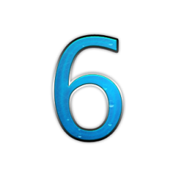 Number 6 Icon Library PNG images