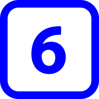 Svg Number 6 Icon PNG images