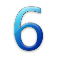 Library Icon Number 6 PNG images