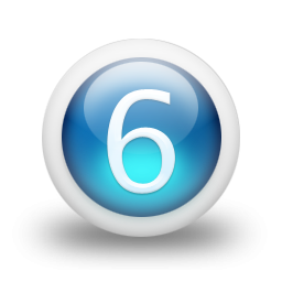 Number 6 Icon Size PNG images