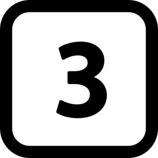 Black Number 3 Icon PNG images