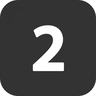 Number 2 Two Icon PNG images
