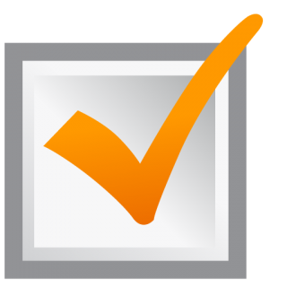 Ok Icon Orange Check Mark PNG images
