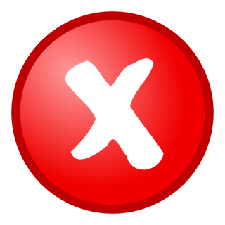 Red Not OK Icon PNG images