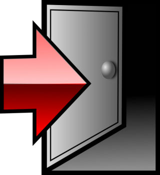 Door, Exit, Log Out, Logout, Sign Out Icon PNG images