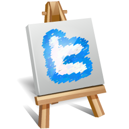 Twitter Painting Icon PNG images