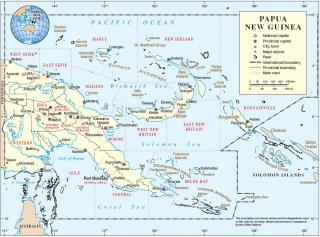 Island Papua New Guinea Map PNG images