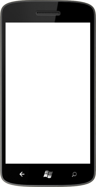 Black Windows Phone PNG PNG images