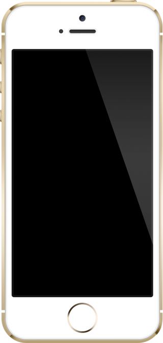 White IPhone Png Black Screen Picture PNG images