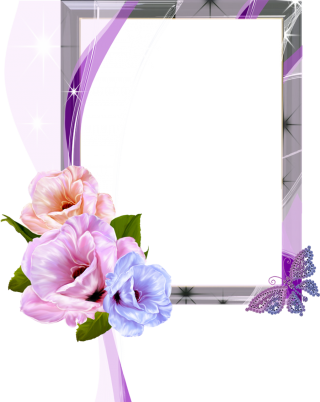 Floral Photo Frame Png PNG images