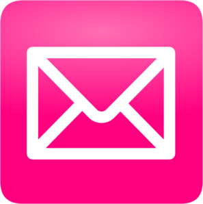 Pink Email Message Icon PNG images