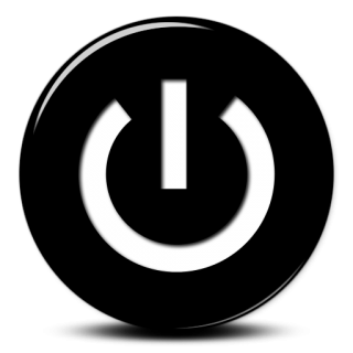 Black White Power Button Icon PNG images