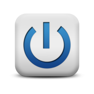 Blue Power Button Symbol Icon PNG images
