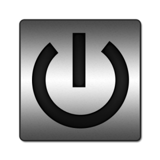 Gray Power Button Icon PNG images