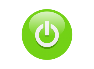 Green Power Button Symbol Icon PNG images