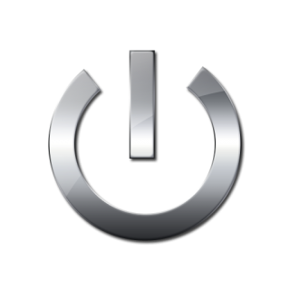 Metallic Power Button Icon PNG images