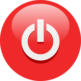 Red Power Button Symbol Icon PNG images