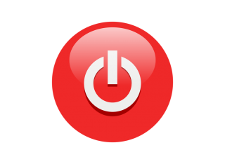 Red White Power Button Symbol Icon PNG images