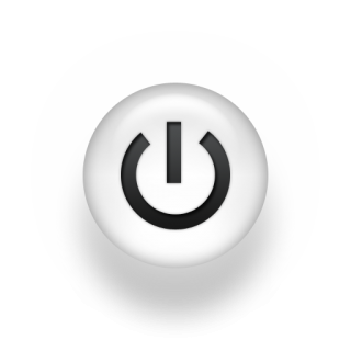 White Power Button Icon PNG images