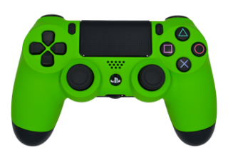 Matte Lime Green PS4 Controller Png PNG images