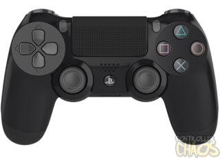 Playstation Black PS4 Modded Controller PNG images