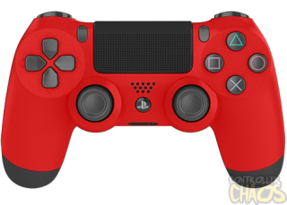Playstation, Red PS4 Modded Controller PNG images