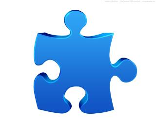 Blue Puzzle Icon PNG images