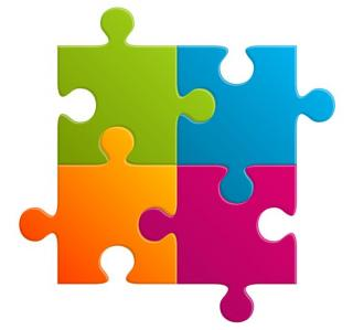 Colorful Puzzle Icon PNG images