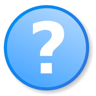 Support, Talk, Blue Question Mark Icon PNG images