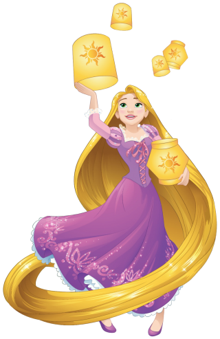 Rapunzel With Lanterns Png PNG images