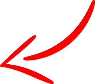 Red Arrow Left Curved Png PNG images