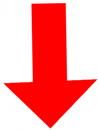 Red Down Arrow Png PNG images