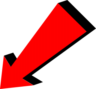 Red Arrow Down Left Png PNG images