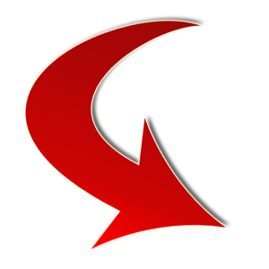 Red Arrow Curved PNG images