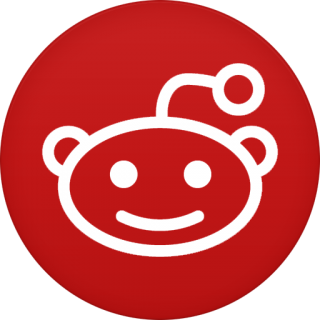 Red Circle Reddit Icon PNG images
